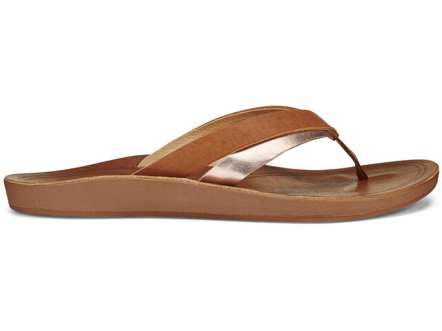 OluKai Kaekae Sandals Women Sahara/Bubbly